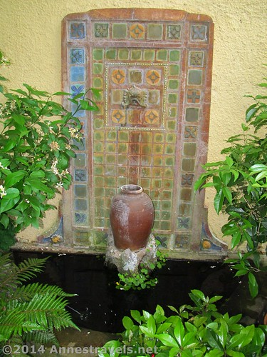 The fountain in the room off the side of the house in Willowwood Arboretum, Morris County, New Jersey