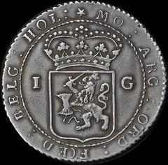 1802 Netherlands Silver Ship's Guilder Scholten reverse