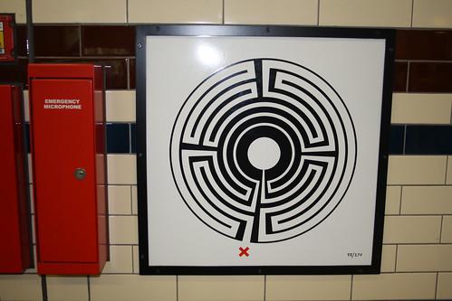 London Underground Labyrinth 58 Baker Street close up