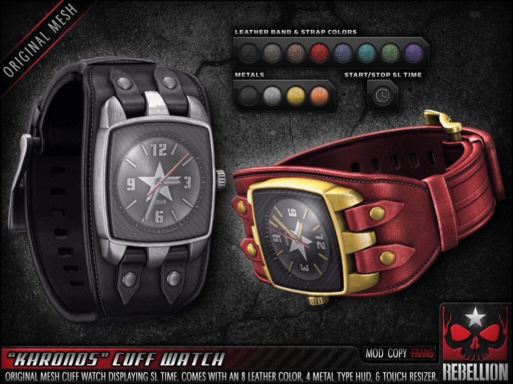 "= REBELLION = ""KHRONOS"" CUFF WATCH"