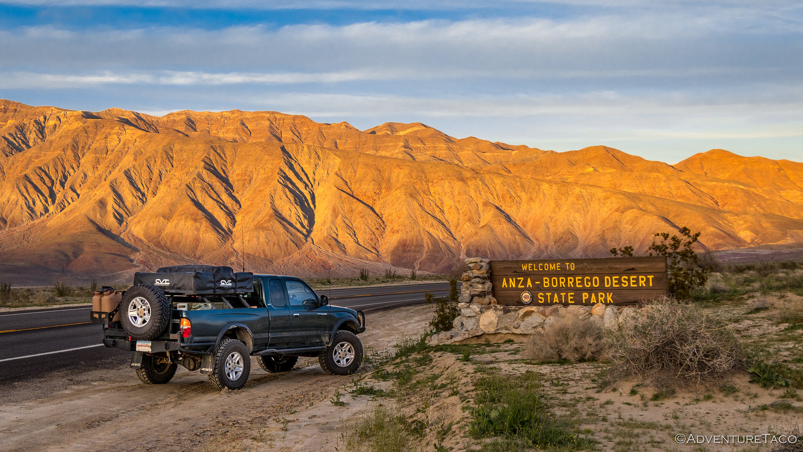 toyota tacoma in anza borrego desert state park