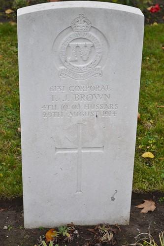 CWGC Corporal T J Brown