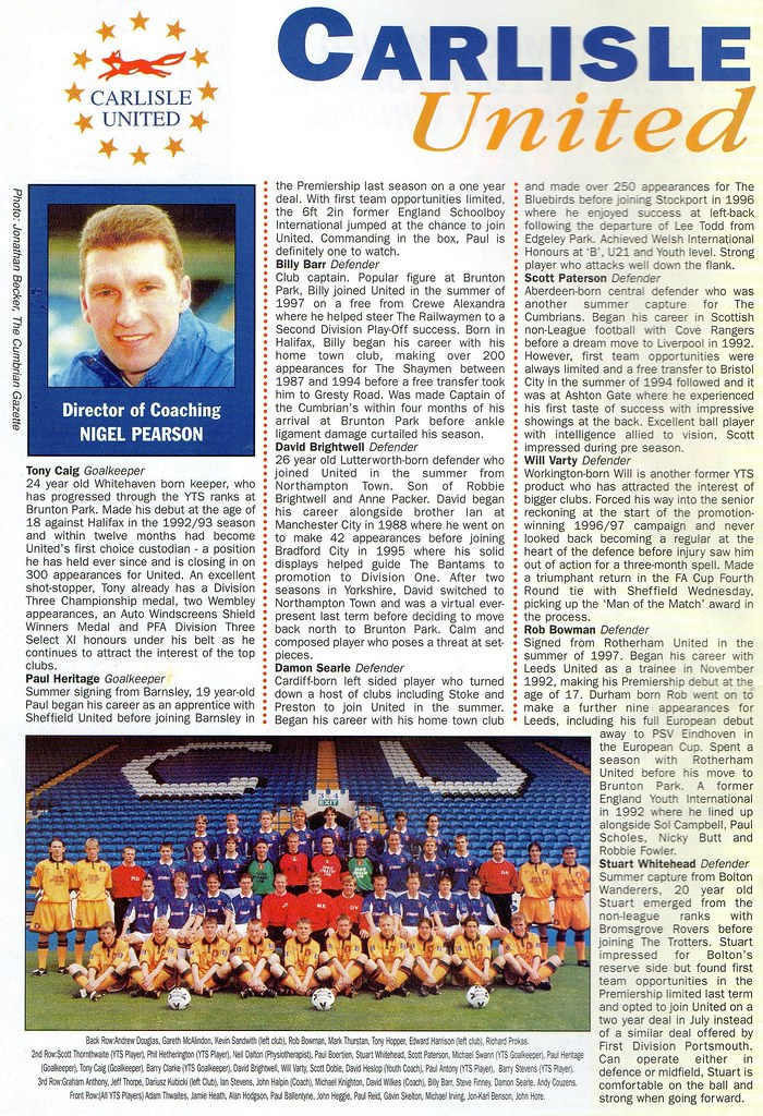 (Programme) 13-03-1999 Halifax Town 1-0 Carlisle United 3
