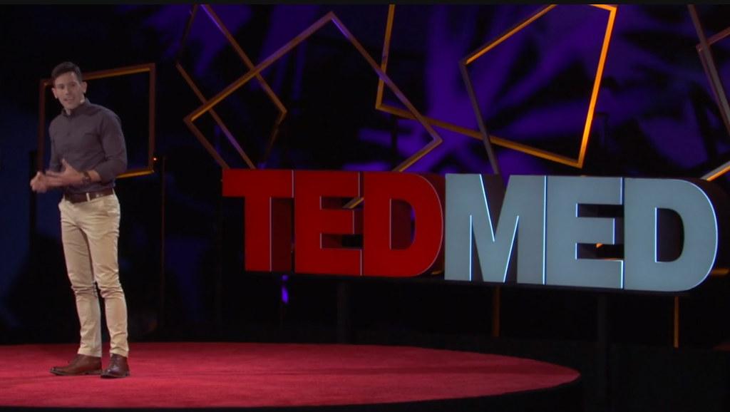 Tom Curran delivering his TED Med Talk