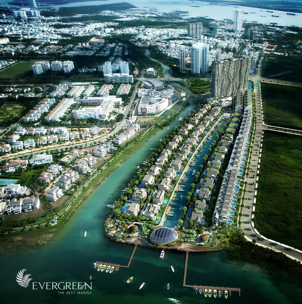 Phối cảnh tổng thể dự án ven sông