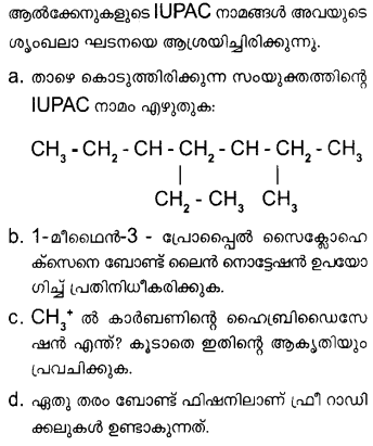 Plus One Chemistry Model Question Papers Paper 4 Q31a