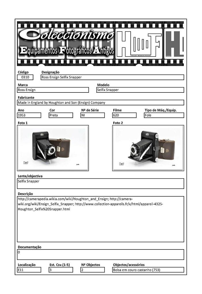 Inventariação da colecção_0310 Ross Ensign Selfix Snapper