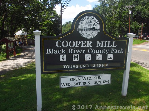 Sign for the Cooper Mill near Chester, New Jersey