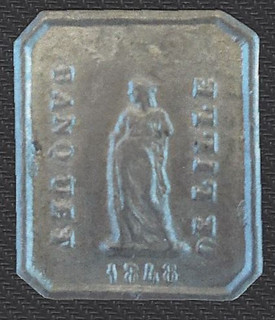 1848 mystery token obverse