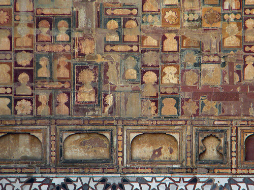 Geometric pattern of niches at Akbar's Mausoleum in Agra, India