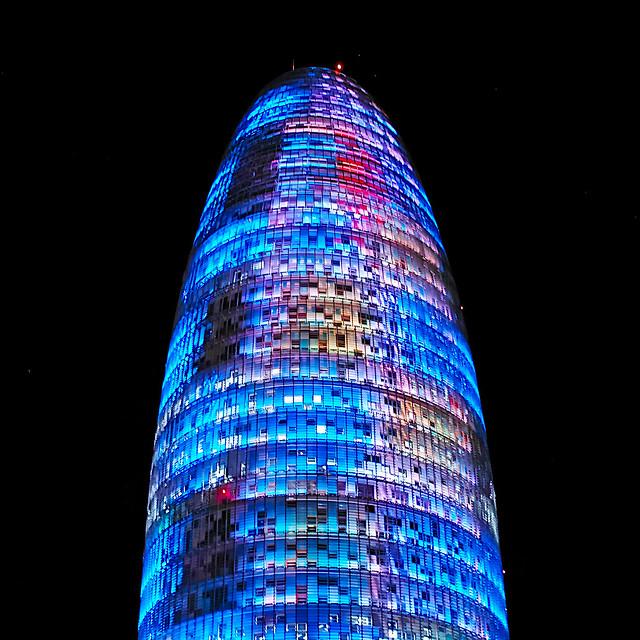 Torre Agbar lights