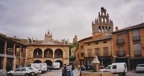 Plaza Mayor, Ayllón, province de Ségovie, Castille-Léon, Espagne.