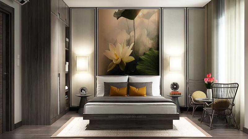 Thiết kế phòng ngủ master mẫu tinh tế