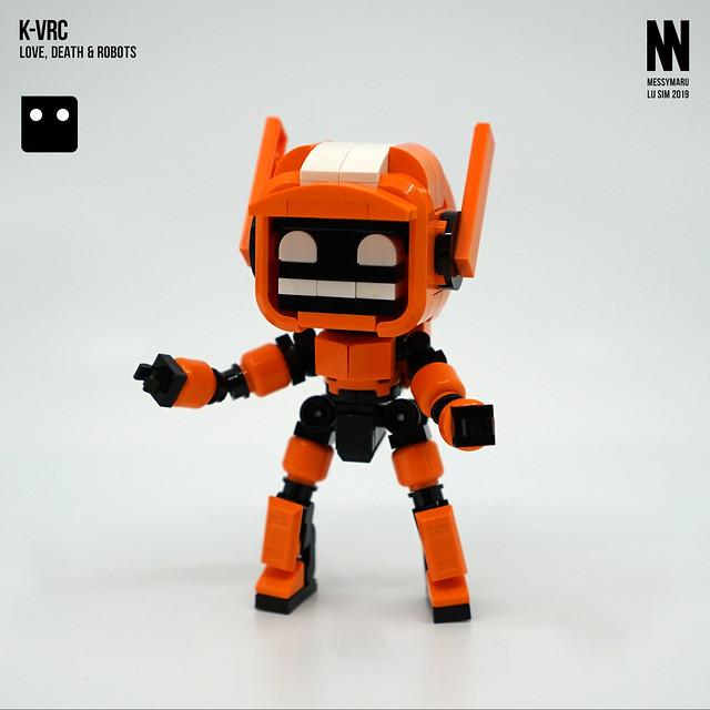 「請看...娛樂圓形體」messymaru 樂高MOC 作品《愛x死x機器人》K-VRC