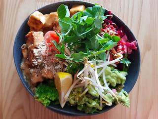 Satay Tofu Bowl at Sattva Yoga Cafe