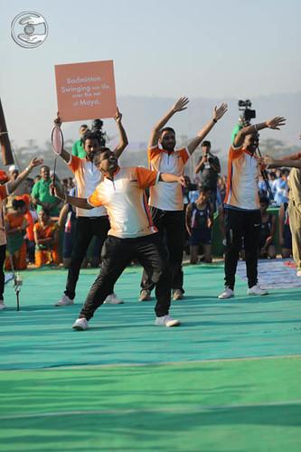 Devotees of Badminton Teams seeking blessings