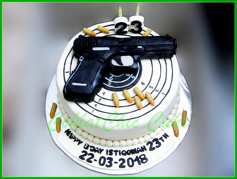 Cake Pistol Istiqomah 24 cm