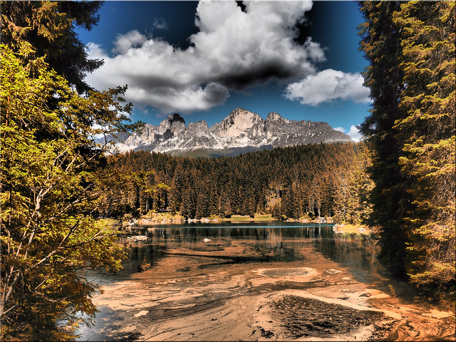 The Lake Karer in South Tyrol