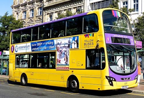 HF11 HCU 'Yellow Buses' No. 122 'lilac 1'. Volvo B9TL / Wright Eclipse Gemini 2 on Dennis Basford's railsroadsrunways.blogspot.co.uk'