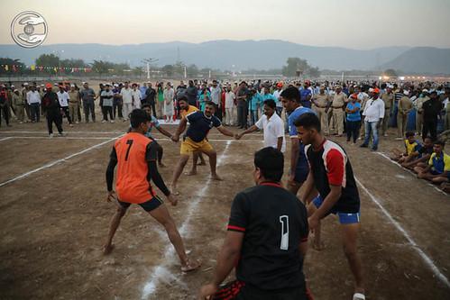 Devotee playing Kabaddi