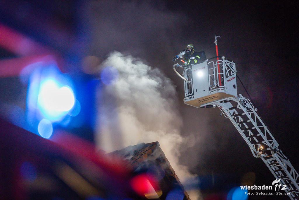 Dachstuhlbrand Rüsselsheim 31.12.18