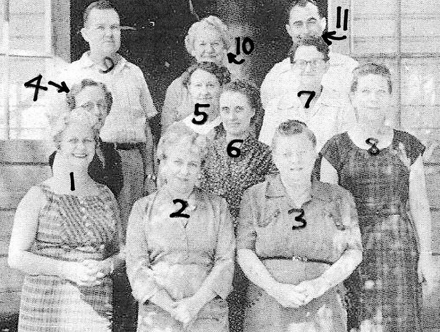 Lacoochee School Faculty, 1956-57, Numbered
