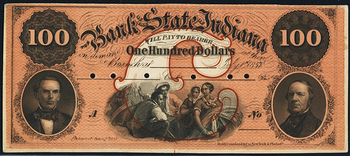 Bank of State of Indiana $100 banknote