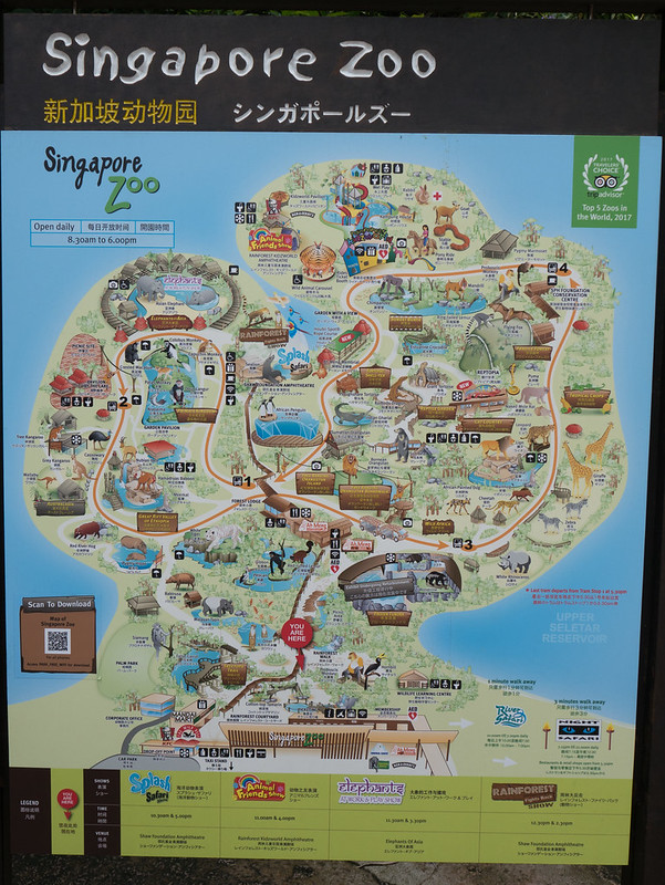Map Singapore Zoo