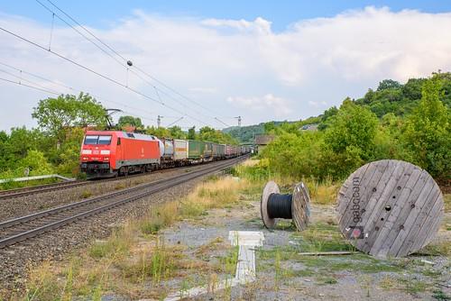 DBC 152 052 met KLV trein, Burgbernheim