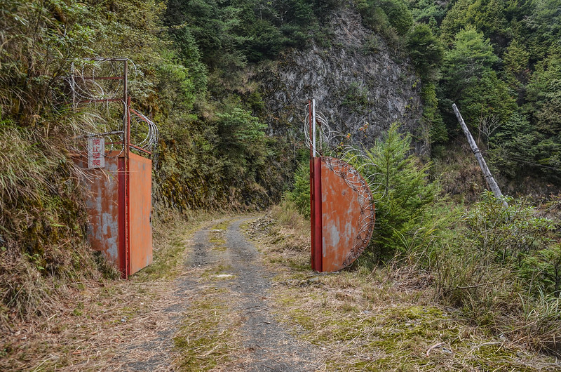 200林道後段第二道管制鐵門 (4)