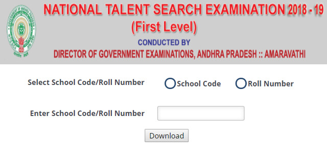 Andhra Pradesh NTSE Result