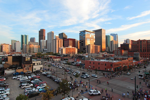 denver colorado co skyline buildings architecture september 2018 coors field view travel