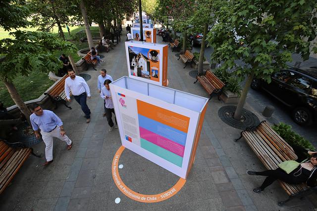 Inauguración de la exposición - 10 años recuperando el Patrimonio de Chile - en la plaza de la Constitución | 28.12.18