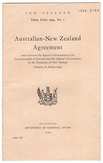 Australian-New Zealand Agreement, 1944