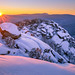 Winter Sunset from Old Rag by uvahiker