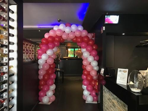 Ballonboog 6m Valentijnsdag Goya Sushi Hoogvliet Rotterdam