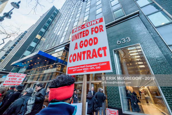 CUNY contract fight target Cuomo and DeBlasio