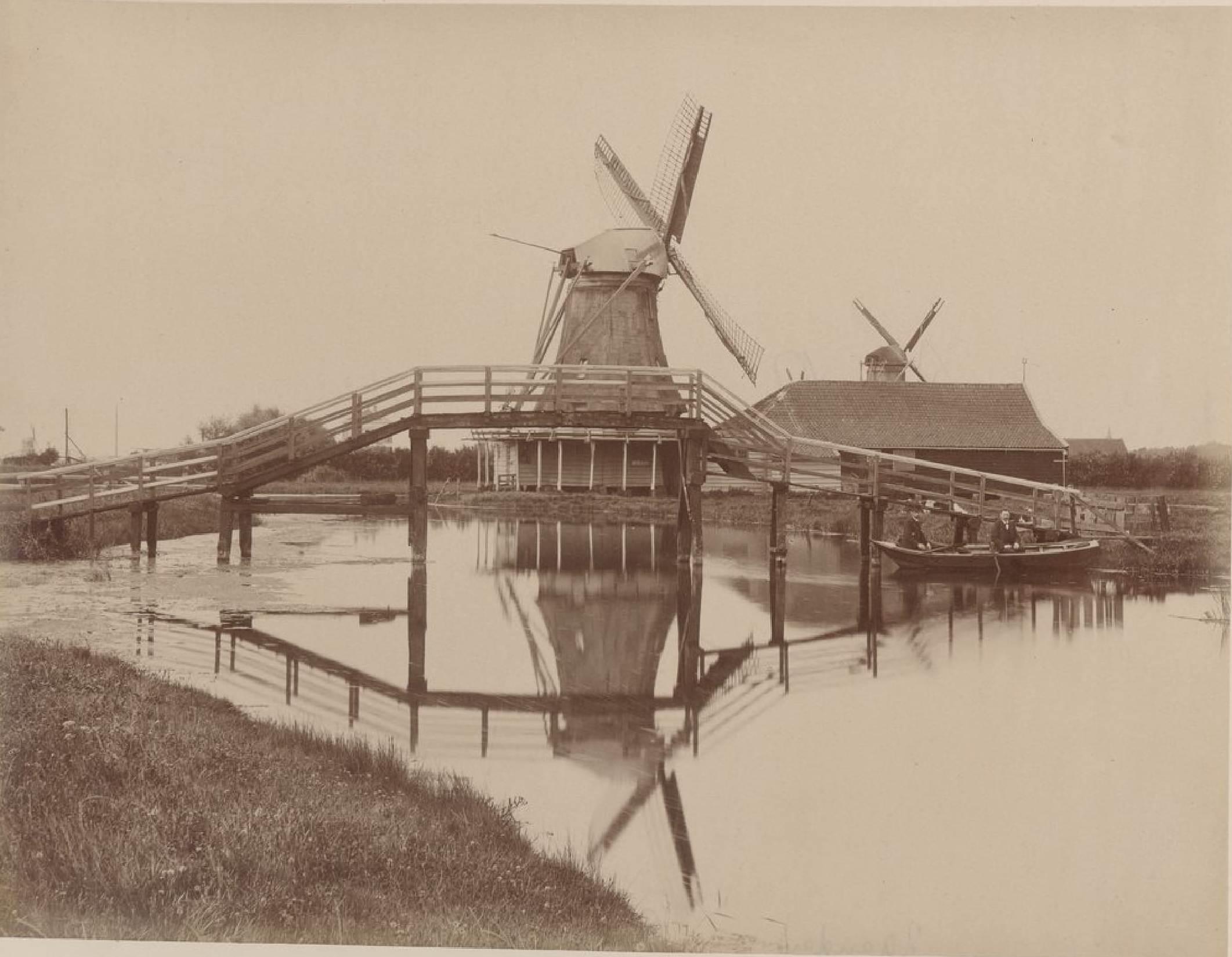 Зандам. Мельницы и железная дорога, 17 мая 1888 года