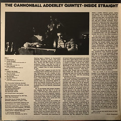 THE CANNONBALL ADDERLEY QUINTET:INSIDE STRAIGHT(JACKET C)
