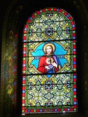 Saint André de Seignanx, Landes: vitrail signé Henri Gesta, Toulouse - Photo of Saint-Laurent-de-Gosse