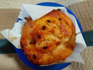 Peach and Passionfruit Muffin at Ginger & Rose