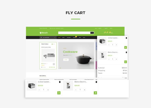 Ap Bosch Best Prestashop Kitchen Theme - Flying ajax cart