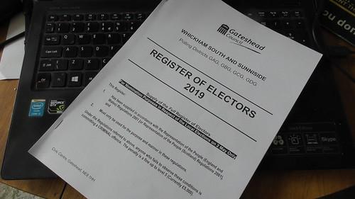 Electoral register Mar 19