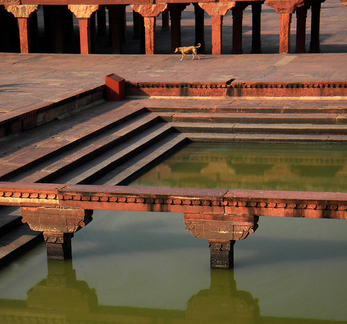 Reflecting pool in Fatehpur Sikri, a town outside of Agra in India