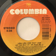LISA LISA AND CULT JAM:LET THE BEAT HIT 'EM(LABEL SIDE-A)