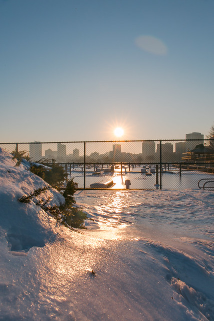 Frozen Marina Sunset