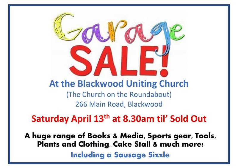 BUC Garage Sale 2019 - Saturday, April 13th