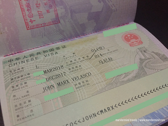 Chinese Tourist Visa
