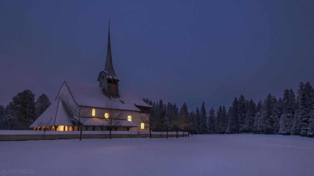 Church at night 2 - Würzbrunnen