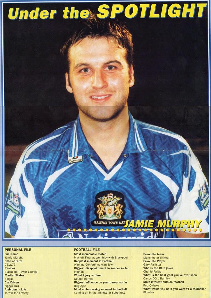 (Programme) 13-03-1999 Halifax Town 1-0 Carlisle United 7 (Jamie Murphy)